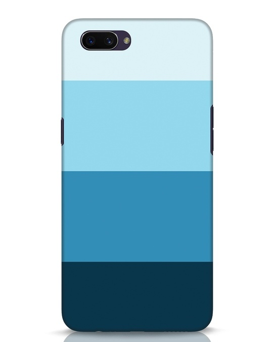 Shop Blue Ombre Stripes Oppo A3S Mobile Cover-Front