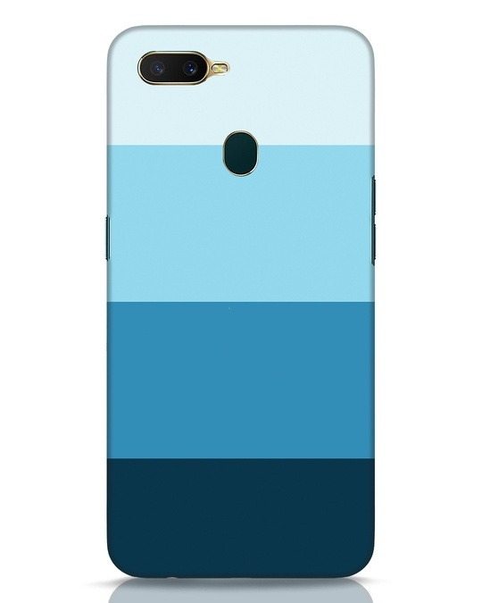 Shop Blue Ombre Stripes Oppo A7 Mobile Cover-Front