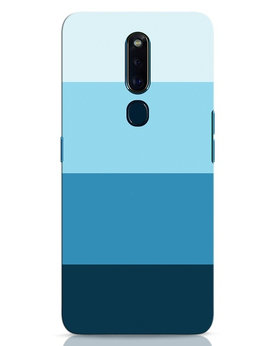 Shop Blue Ombre Stripes Oppo F11 Pro Mobile Cover-Front
