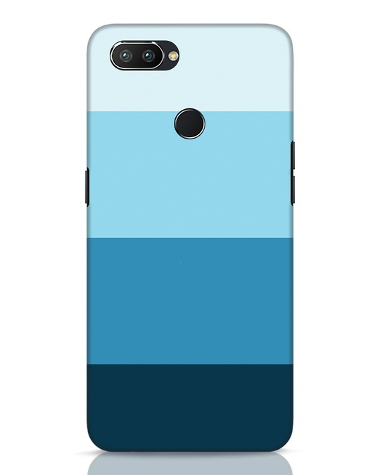 Shop Blue Ombre Stripes Realme 2 Pro Mobile Cover-Front