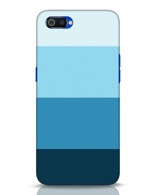 Shop Blue Ombre Stripes Realme C2 Mobile Cover-Front