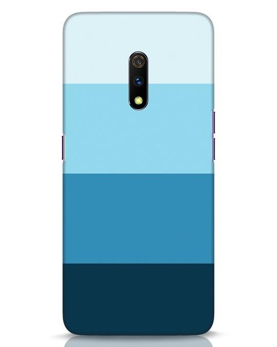 Shop Blue Ombre Stripes Realme X Mobile Cover-Front