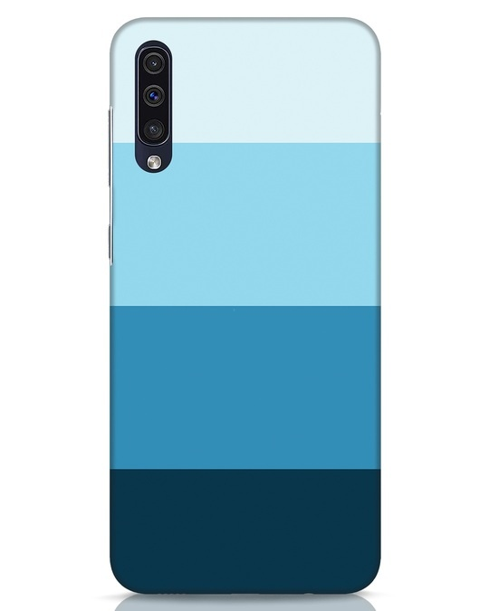 Shop Blue Ombre Stripes Samsung Galaxy A50 Mobile Cover-Front