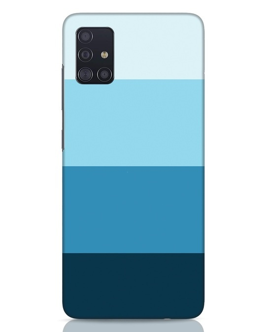 Shop Blue Ombre Stripes Samsung Galaxy A51 Mobile Cover-Front