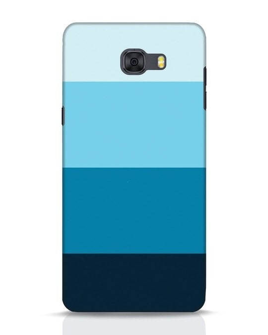 Shop Blue Ombre Stripes Samsung Galaxy C9 Pro Mobile Cover-Front