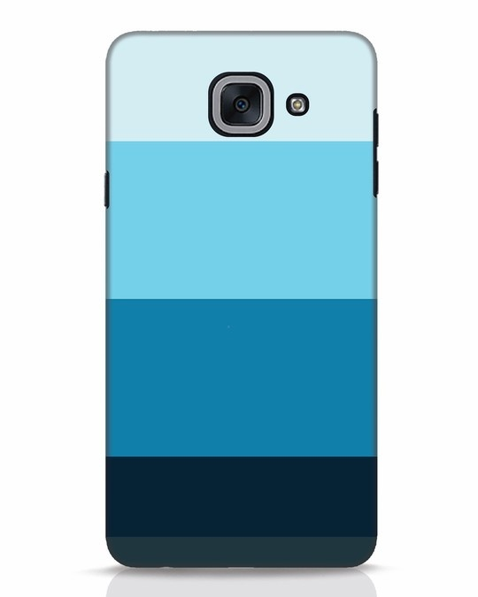 Shop Blue Ombre Stripes Samsung Galaxy J7 Max Mobile Cover-Front