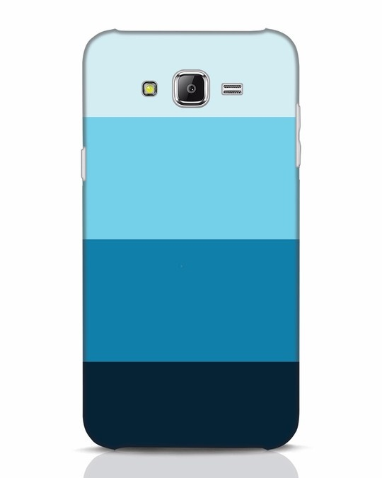 Shop Blue Ombre Stripes Samsung Galaxy J7 Mobile Cover-Front