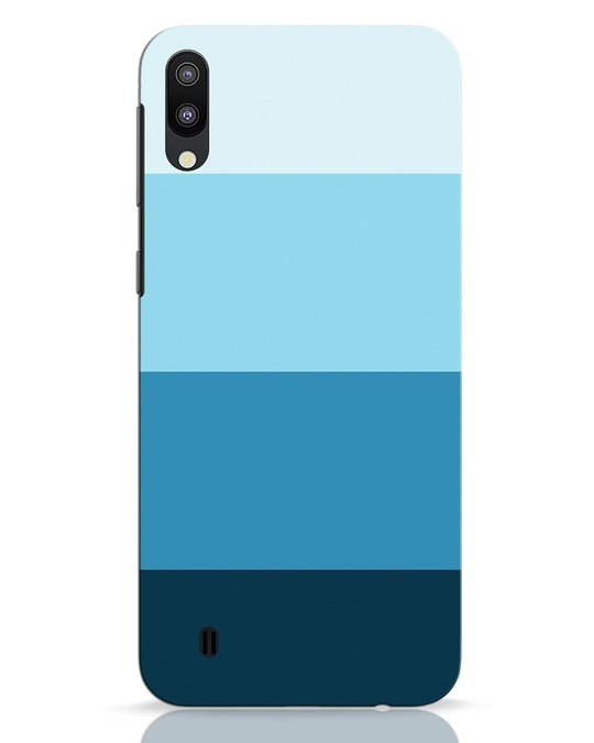 Shop Blue Ombre Stripes Samsung Galaxy M10 Mobile Cover-Front