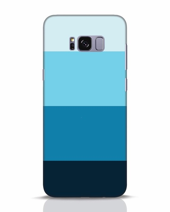 Shop Blue Ombre Stripes Samsung Galaxy S8 Plus Mobile Cover-Front