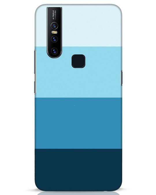 Shop Blue Ombre Stripes Vivo V15 Mobile Cover-Front