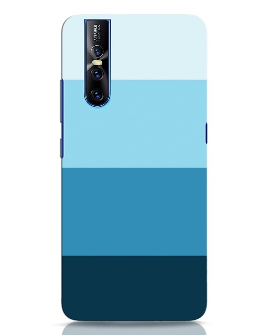 Shop Blue Ombre Stripes Vivo V15 Pro Mobile Cover-Front
