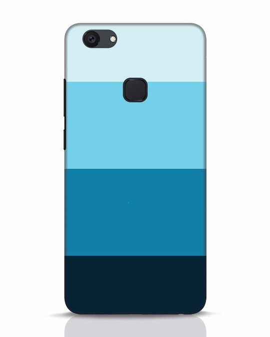 Shop Blue Ombre Stripes Vivo V7 Plus Mobile Cover-Front