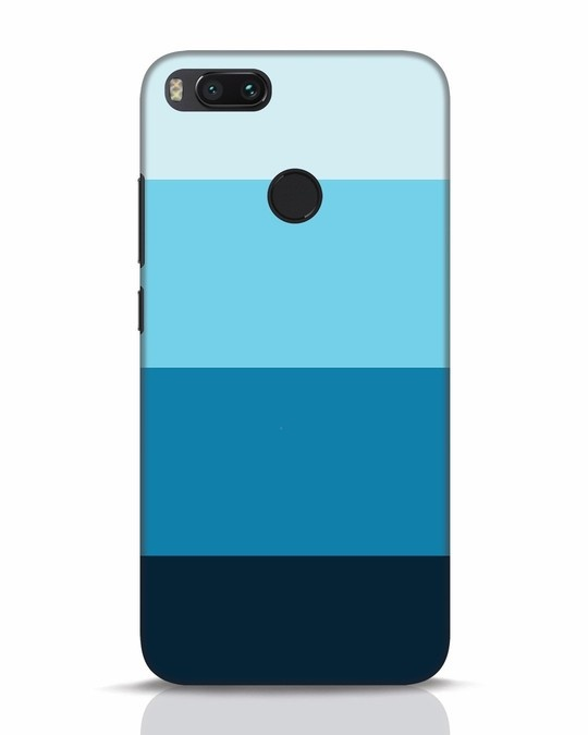 Shop Blue Ombre Stripes Xiaomi Mi A1 Mobile Cover-Front