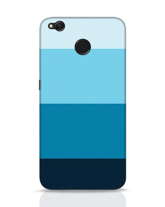 Shop Blue Ombre Stripes Xiaomi Redmi 4 Mobile Cover-Front