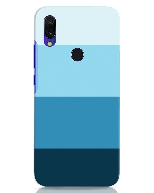 Shop Blue Ombre Stripes Xiaomi Redmi 7 Mobile Cover-Front