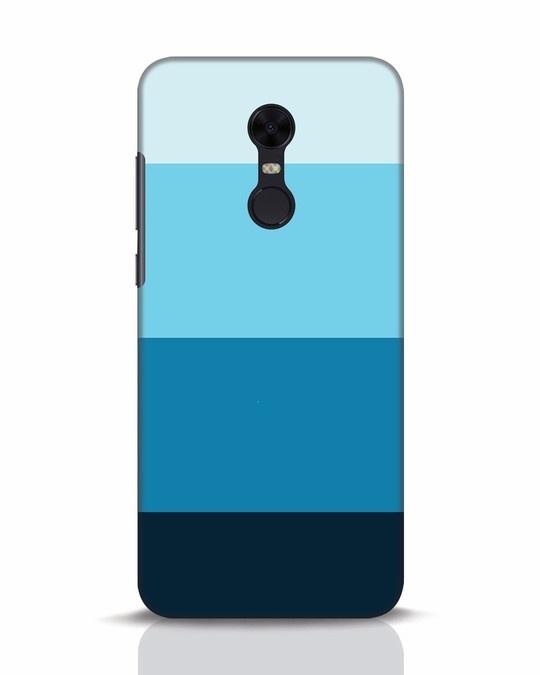 Shop Blue Ombre Stripes Xiaomi Redmi Note 5 Mobile Cover-Front