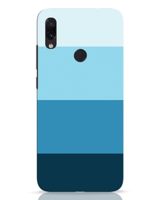 Shop Blue Ombre Stripes Xiaomi Redmi Note 7 Pro Mobile Cover-Front