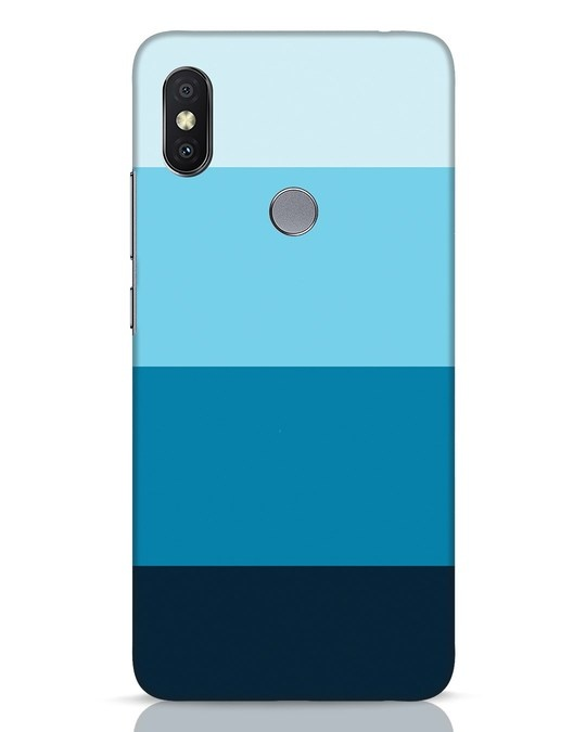 Shop Blue Ombre Stripes Xiaomi Redmi Y2 Mobile Cover-Front