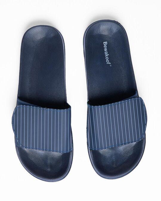 Shop Blue Stripes Lightweight Adjustable Strap Women Slider-Back