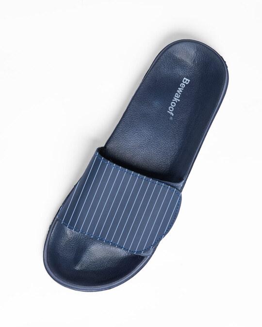 Shop Blue Stripes Lightweight Adjustable Strap Women Slider-Design