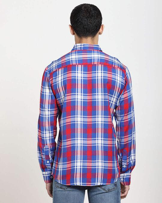 Shop Red Checks Two Pocket Casual Full Sleeve Shirt-Full