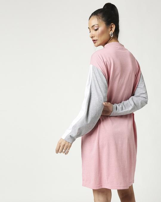 Shop Blush Melange Hip Hop Dress-Full