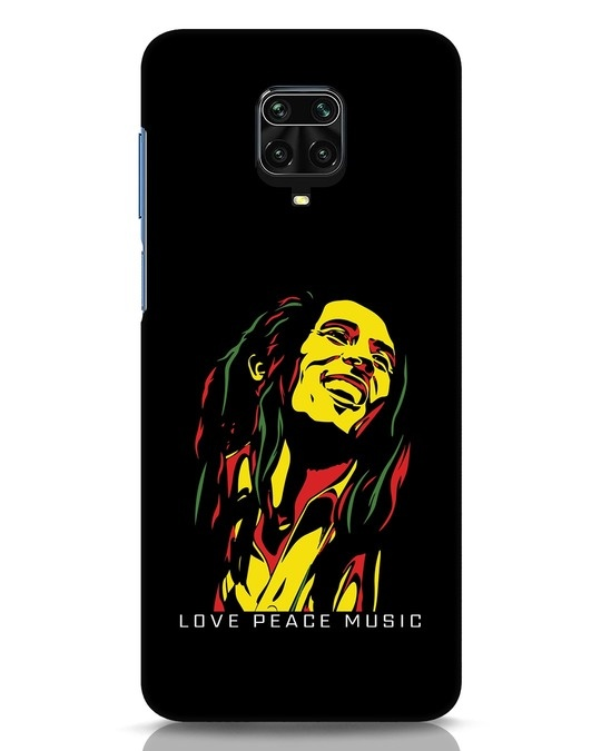 Shop Bob Peace Music Xiaomi Redmi Note 9 Pro Mobile Cover-Front