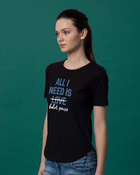 Shop Bohot Paise Basic Round Hem T-Shirt-Back