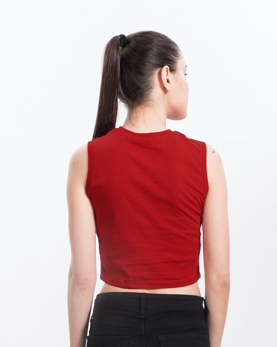 Shop Bold Red Cropped Tank Top-Design