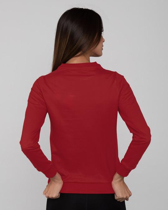 Shop Bold Red Fleece Light Sweatshirt-Design