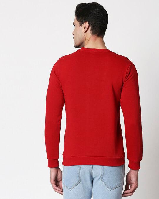 Shop Bold Red Fleece Sweater-Design