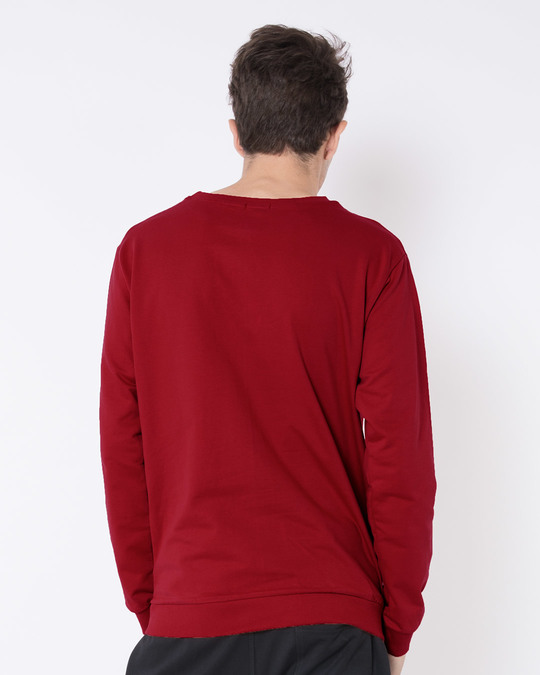 Shop Bold Red Fleece Sweater-Design