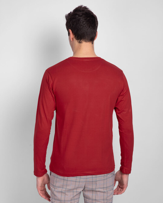 Shop Bold Red Full Sleeve T-Shirt-Design