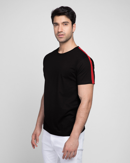 Shop Bold Red Half Side Panel T-shirt-Design