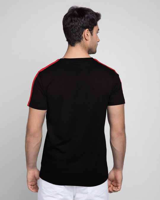 Shop Bold Red Half Side Panel T-shirt-Full