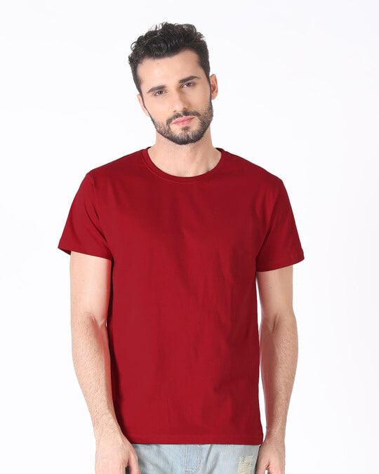 65dfdf12 Buy Bold Red Printed Half Sleeve T-Shirt For Men Online India ...