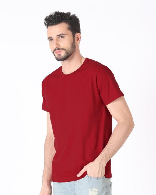Shop Bold Red Half Sleeve T-Shirt-Back