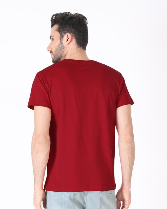 Shop Bold Red Half Sleeve T-Shirt-Full