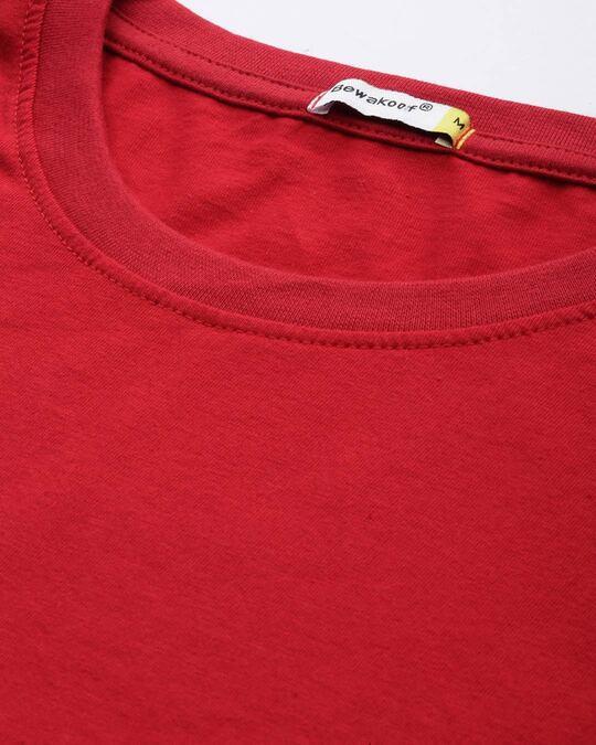 Shop Bold Red Half Sleeve T-Shirt