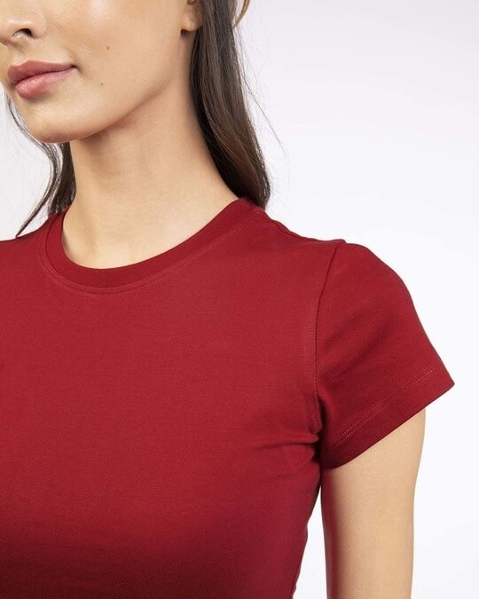 Shop Bold Red Half Sleeve T-shirt