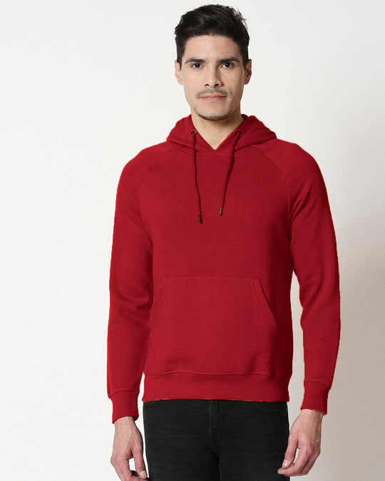 Shop Bold Red Hoodie-Front