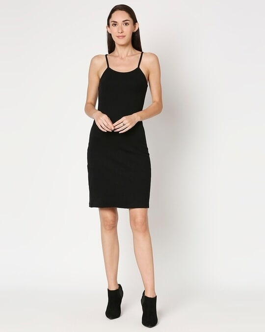 Shop Women's Slip Dress with Red Turtle Neck Top