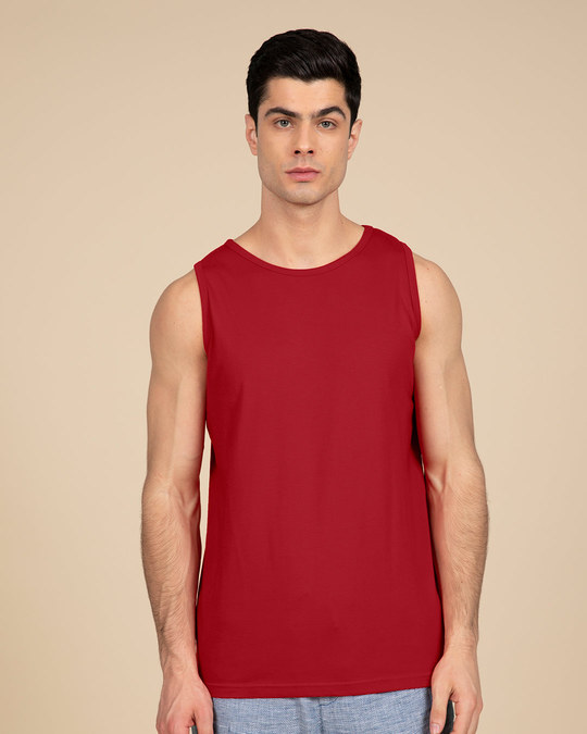 Shop Bold Red Vest-Front