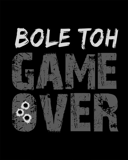 Shop Bole Toh Game Over Full Sleeve T-Shirt