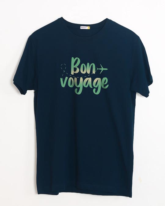 Shop Bon Voyage Half Sleeve T-Shirt-Front