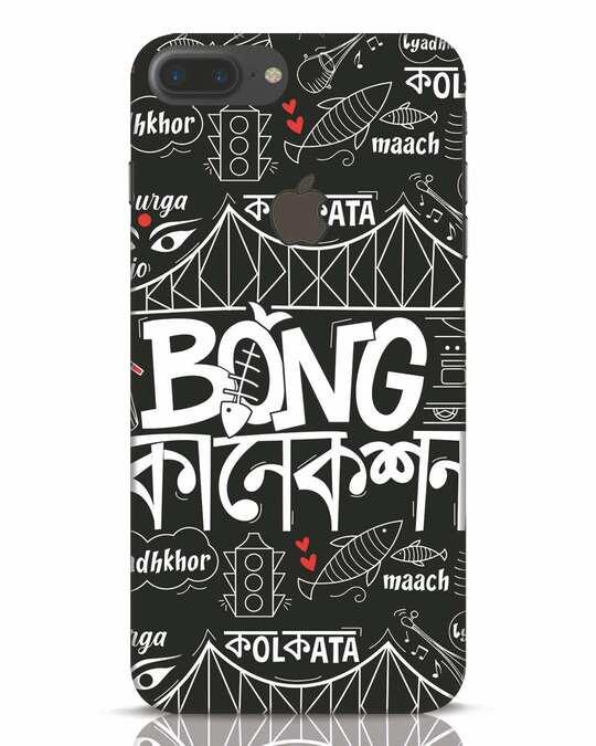 Shop Bong Connection Doodle iPhone 7 Plus Logo Cut Mobile Cover-Front