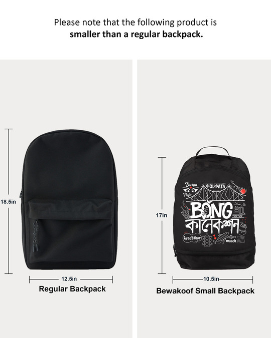 Shop Bong Connection Doodle Small Backpack Black-Full