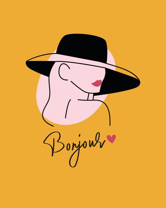 Shop Bonjour Heart Fleece Sweater Mustard Yellow-Full