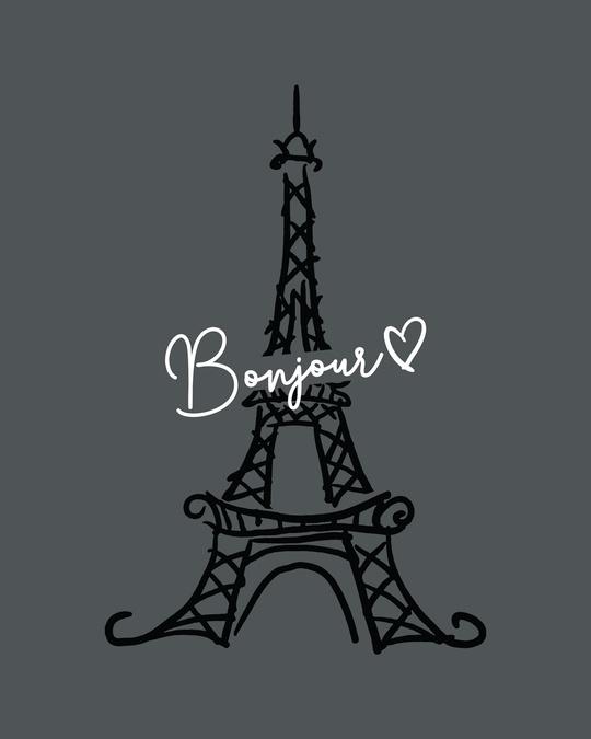 Shop Bonjour Paris   Boyfriend T-Shirt Nimbus Grey