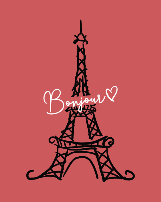 Shop Bonjour Paris Boyfriend T-Shirt